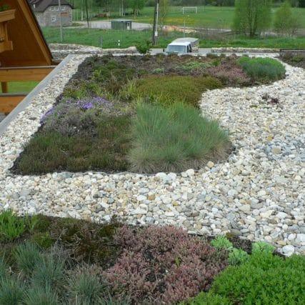 Zahrada se střešní zahradou Borová Lada