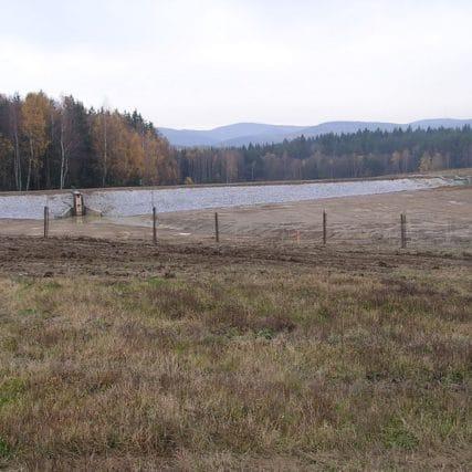 Výstavba rybníka Valenta a revitalizace Kleštínského potoka (vegetační úpravy)