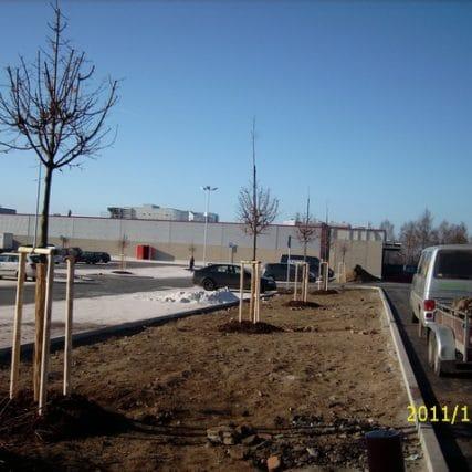 Parkové úpravy – Kaufland Jablonec nad Nisou